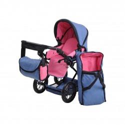 Niebieski wózek dla lalek...