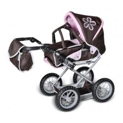 Brązowy wózek dla lalek...