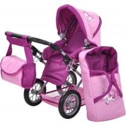 Różowy wózek dla lalek Ruby...