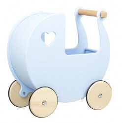 Błękitny wózek dla lalki...